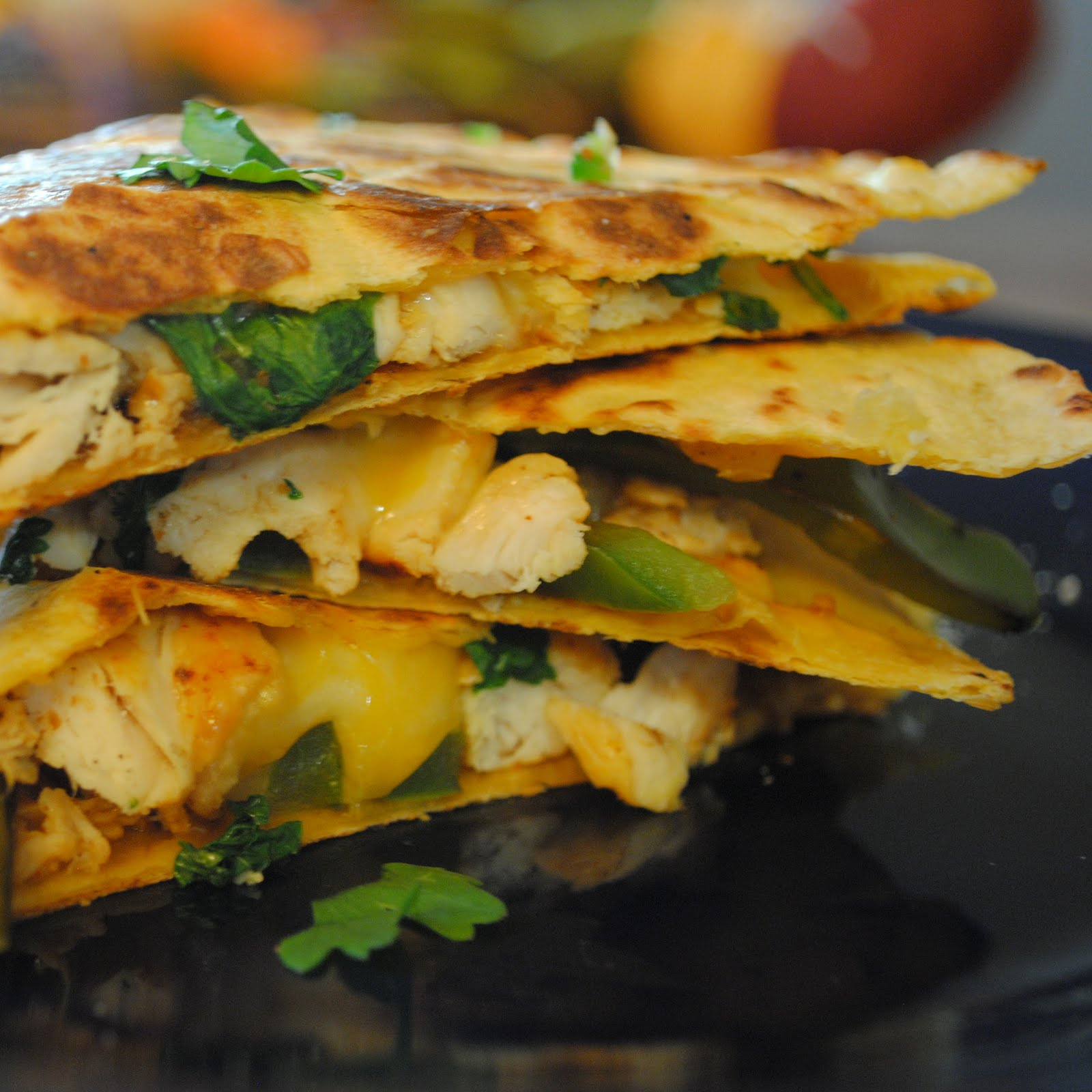 chicken quesadillas spicy peanut chicken quesadillas lisa jones s ...