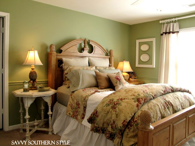 Savvy southern style guest room is finished for now for Southern style bedroom