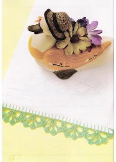 Puntillas a crochet para toallas o cortinas