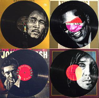 Marley, Charles, Cash and Joplin - (i) inspired by photos by Adrian Boot, Jan Olofsson and Bob Seidemann