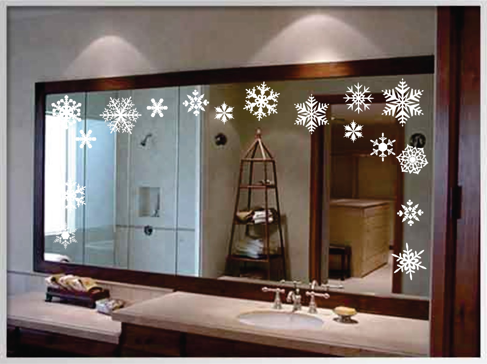 Walls that talk holiday decorating with vinyl wall lettering - Decorating bathroom mirrors ideas ...