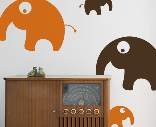 Bo med barn: Wall Stickers