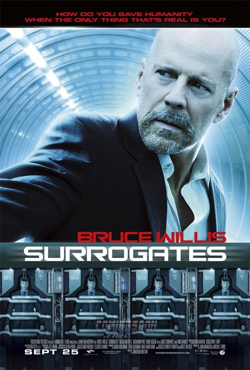SURROGATES poster [click to enlarge]