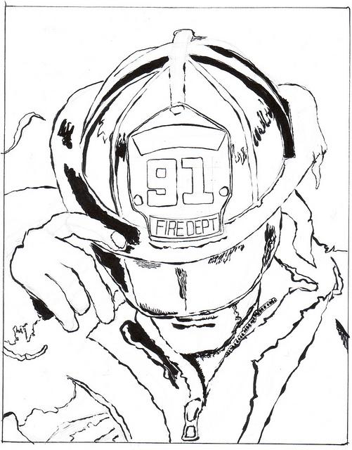 sketchbook by chris wip fireman