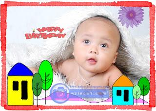 Download gratis Frame Ulang Tahun Bayi