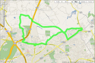 google map Old Greenbelt to Old Bowie