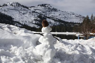 Donner Lake snowman
