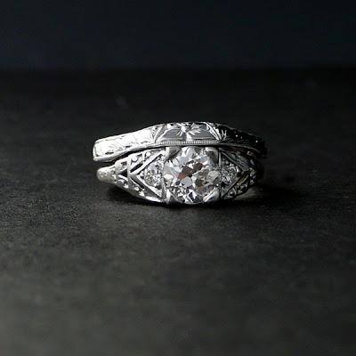 my shiny sparkly gem of a life Civil War Era Engagement Ring