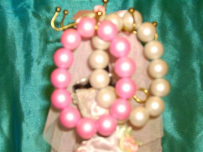 Bratari margele(culori:ciclam si roz pal)-4ron