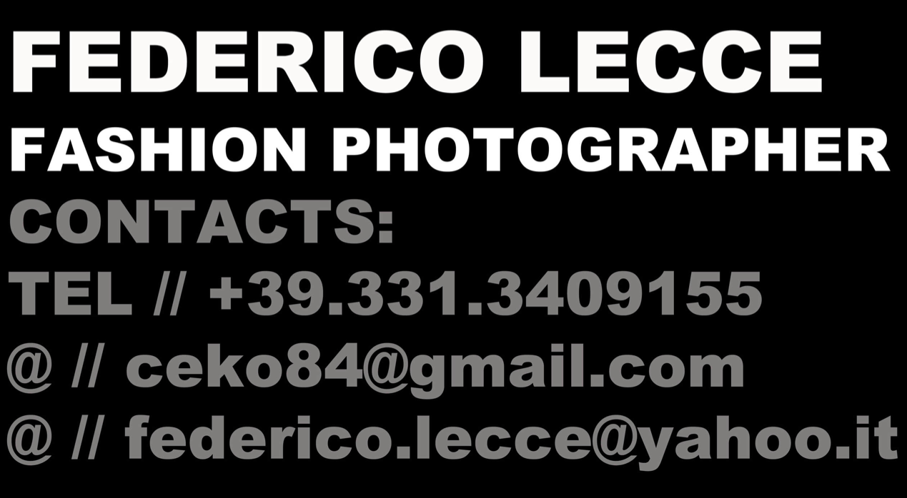 Federico Lecce Fashion Photographer