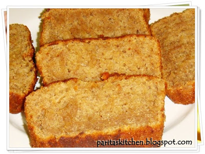 Fatfree Eggless Banana Cake