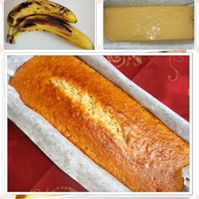 Low Fat Eggless Banana Cake