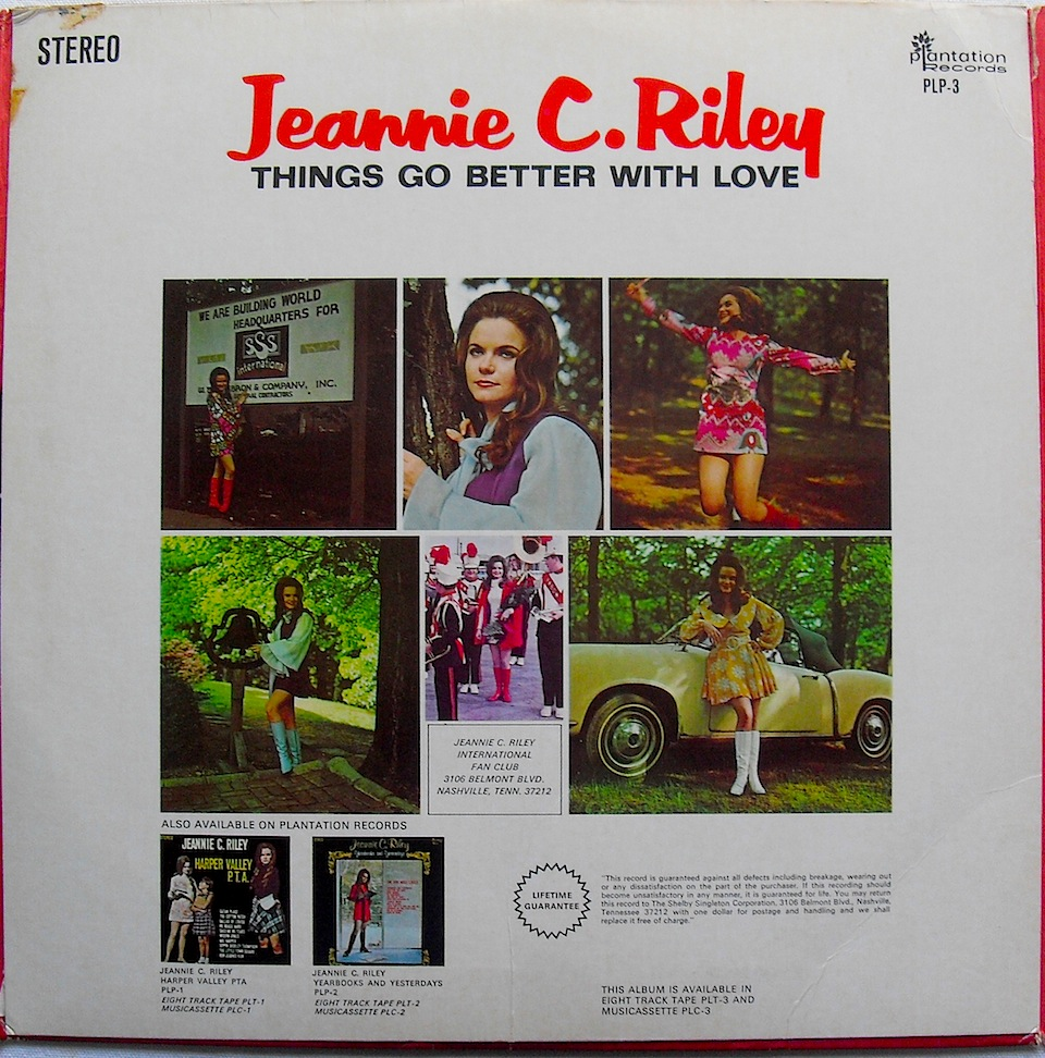 Jeannie C Riley Things Go Better With Love
