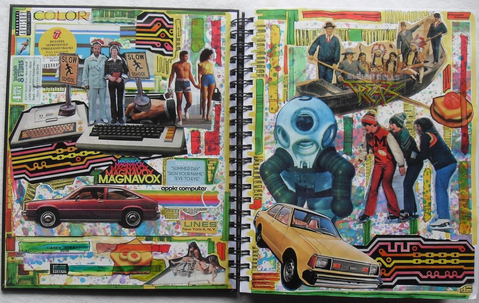 Sketchbook Cover Collage : Art skool damage christian montone sketchbook collages