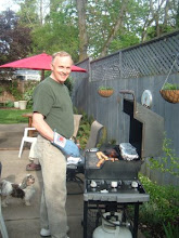 Tom (Jer's brother) cooking a great barbeque for us while in Oregon.