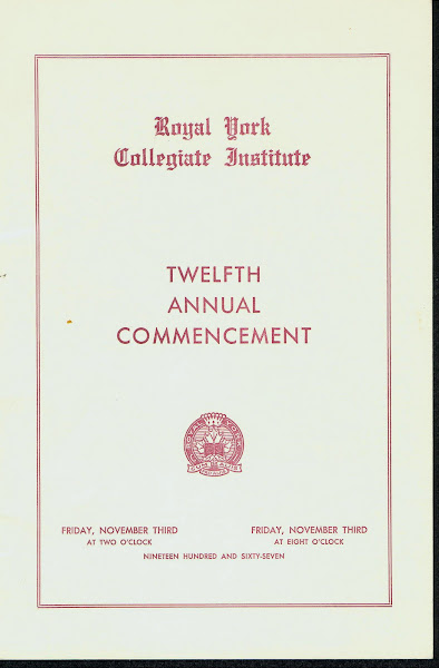RYCI 1967 Commencement Program--cover