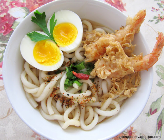 Cook udon noodles according to the package instructions.