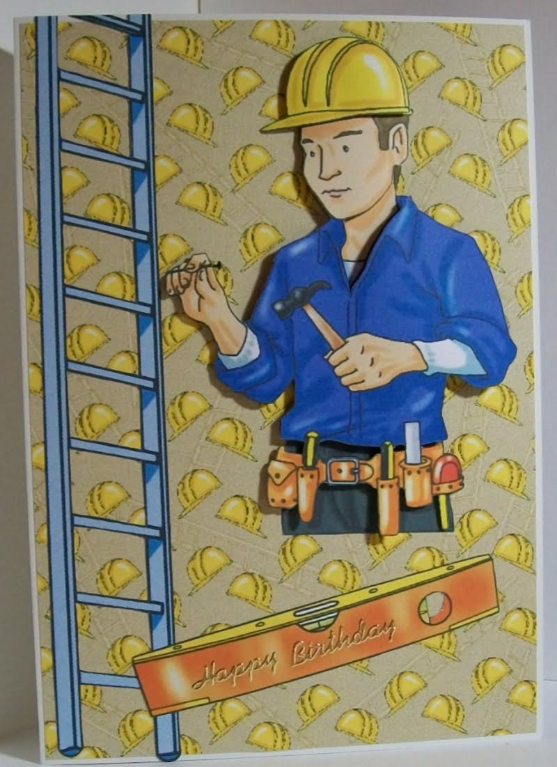 Crafters Companion Male Occupations birthday card