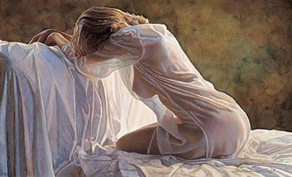 Termina o dia em vestes de noite, suave seda da madrugada...
