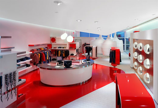 Uzumaki interior design fashion store interior decorating for Boutique interior design