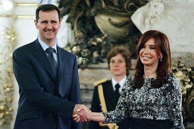 Cristina Kirchner, junto a Basher al-Assad