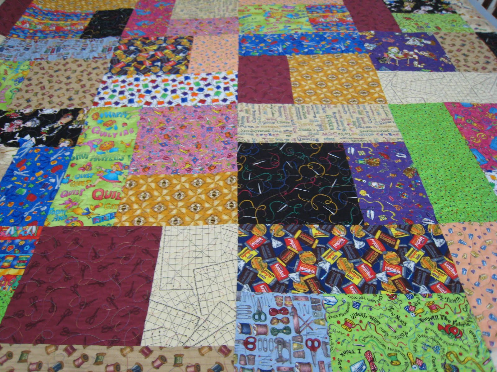 Quilt Bindings: Turning Twenty Quilt #2
