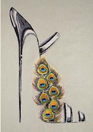 Peacock Feathers Stiletto