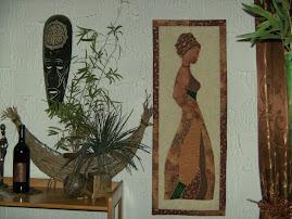Nicole`s afrikanisches  Patchworkbild