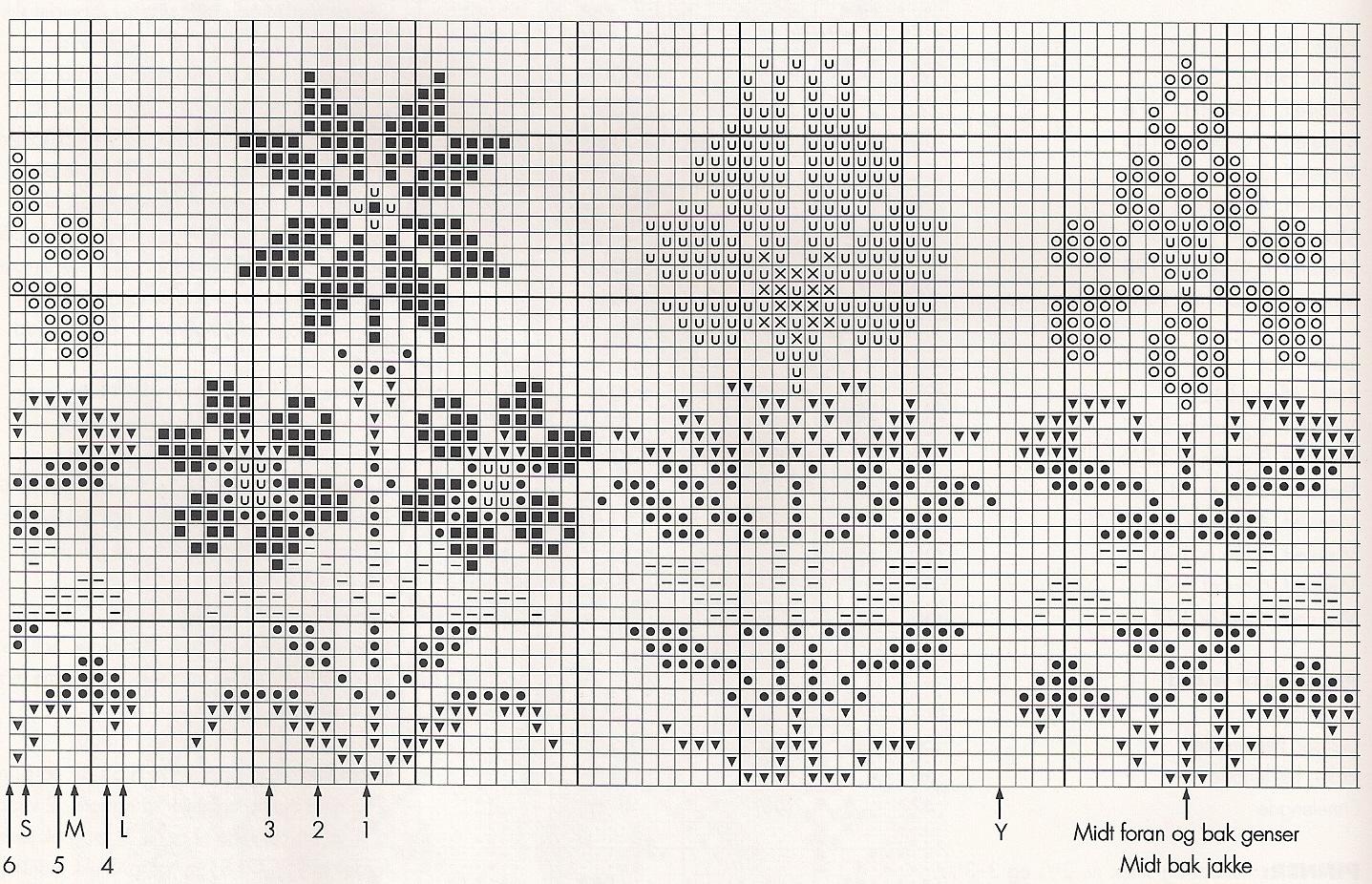 Орнамент цветов схема вязания 39