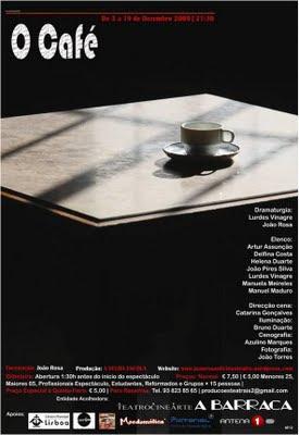 """""""O Café"""" no Teatrocinearte A Barraca - A Estreia"""