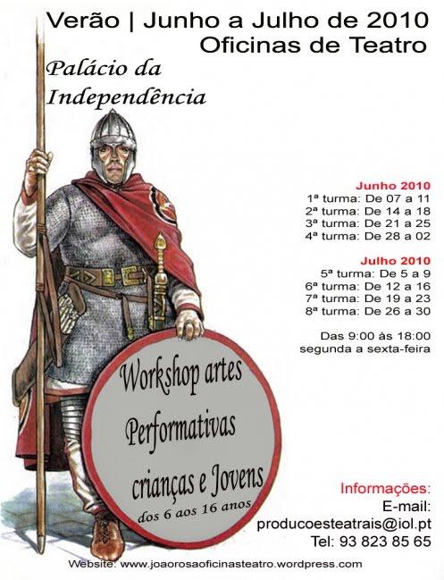 Workshop Artes Performativas para crianças e Jovens - Lisboa