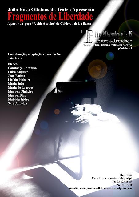 """""""FRAGMENTOS DE LIBERDADE"""" - Teatro Trindade (Sala Estúdio)"""