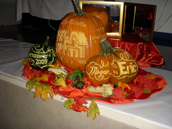 Pumpkin Wedding Centerpiece Source 4bpblogspotcom