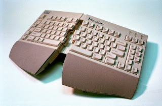 Ergonomic broken keyboard design