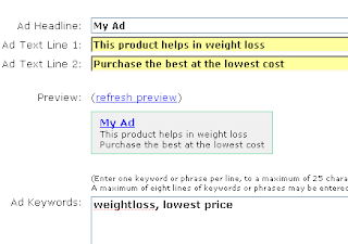 Clickbank Adserving platform, typical ad