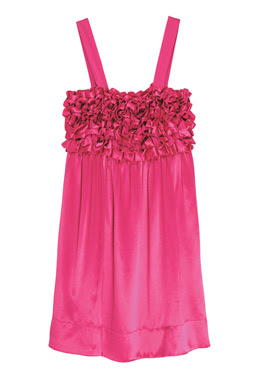 pink ruffle dress designer fashion