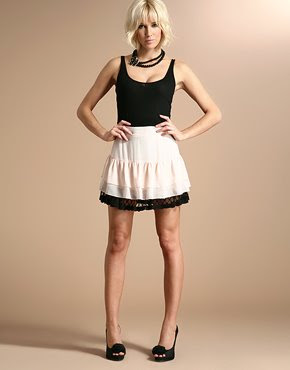 pretty chiffon sheer mini skirt