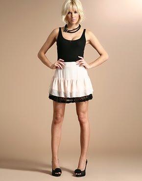 pretty chiffon sheer mini skirt