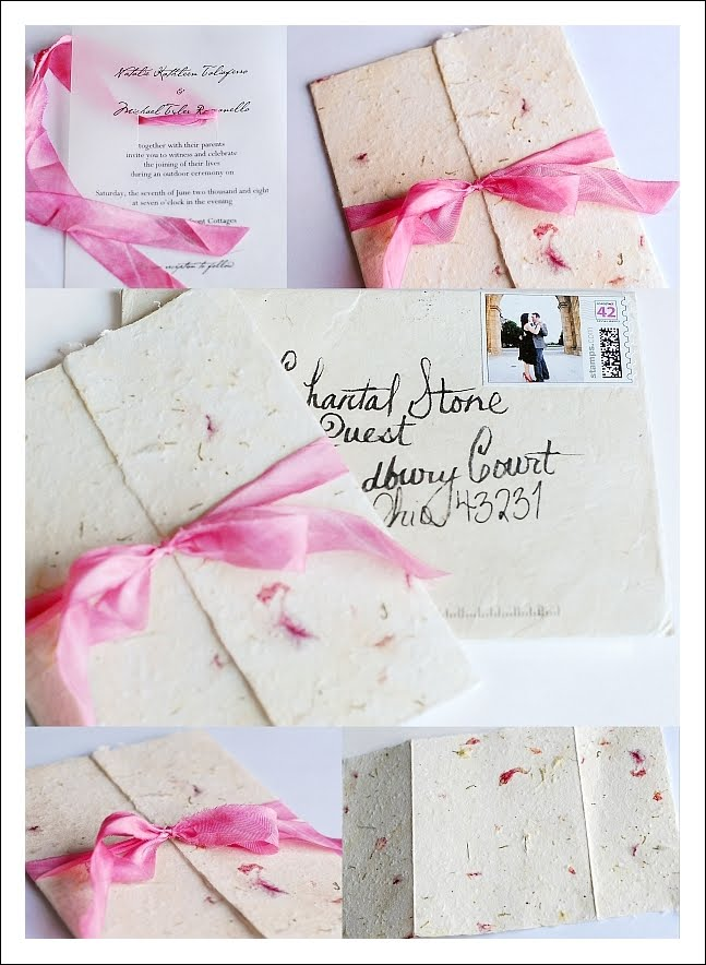 My Eco Wedding in Africa: Plantable Seed Invitations