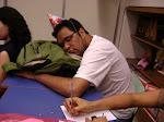 Dormindo na aula.
