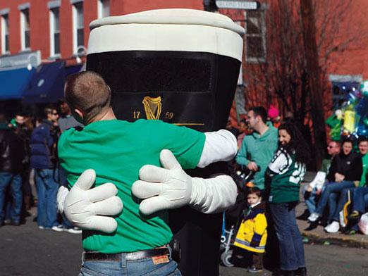 hug a damn guinness on saint patrick's day.