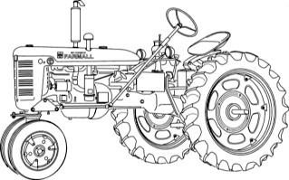 coloring pages farmall tractors - photo#5