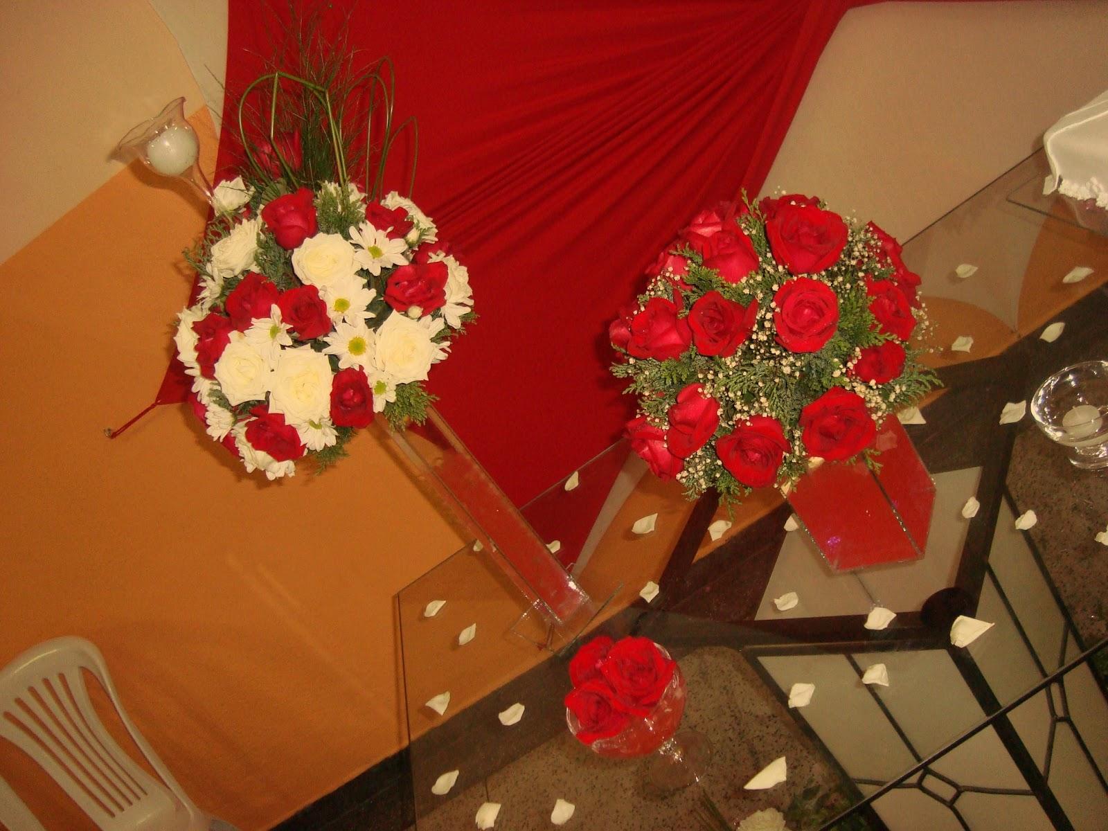 Decoração Vermelha  Vestida de Noiva  Blog de Casamento