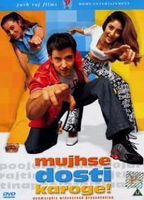 Mujhse Dosti Karoge (2002) SL YK - Rani Mukherjee, Hrithik Roshan, Kareena Kapoor, Uday Chopra, Satish Shah, Kiran Kumar, Sachin Khedekar, Smita Jaykar, Himani Shivpuri, Maya Alagh, Parikshat Sahni.