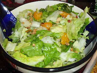 dressing recipe and make lettuce antogether shake all with poppy