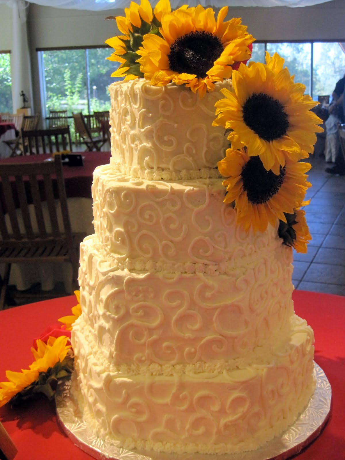 Sunflower Wedding Cake Cake Ideas and Designs