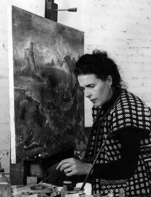 Kati Horna: Leonora Carrington at her easel