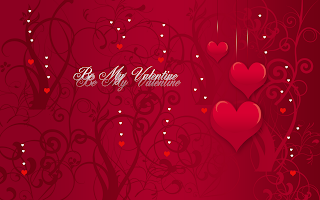 Be my Valentine Pink Hearts HD Wallpaper