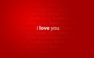 I love you text red background hd wallpaper