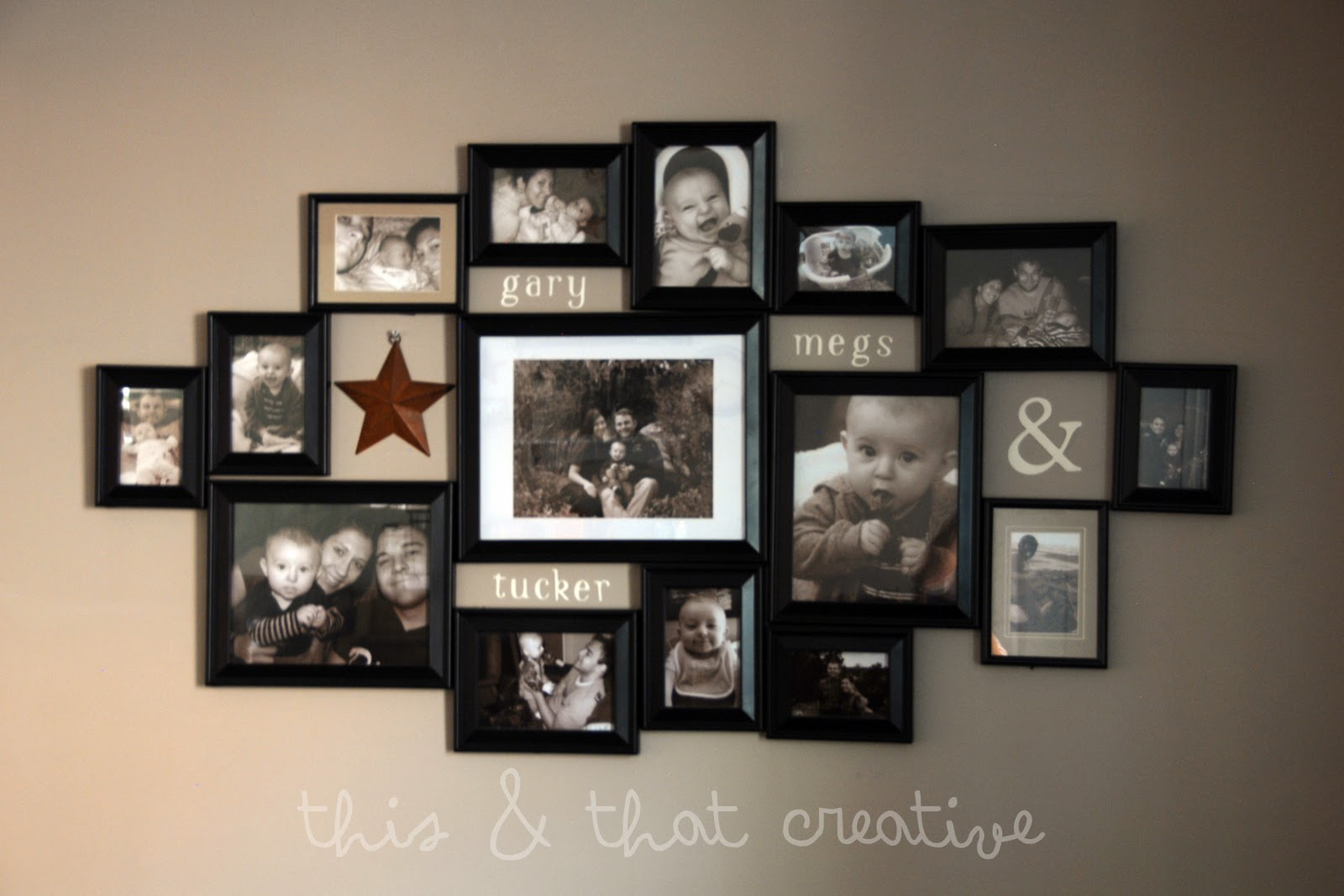 This and That Creative Blog: Frame Collage